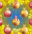 New Year pattern with Christmas ball Sparkles and vector image vector image