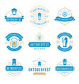 oktoberfest celebration beer festival labels vector image vector image