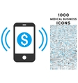 Payment Phone Ring Icon with 1000 Medical Business vector image vector image