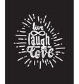 Poster live laugh love black vector image