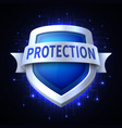protection shield icon for various safety vector image vector image