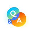 q and a gradient bubbles question and answer web