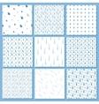 Rain drops pattern set vector image