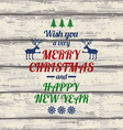 Retro Christmas Greeting Card With Colorful vector image