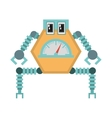 robot multi-task technology pincers arms vector image vector image