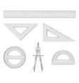 set isolated geometry items vector image vector image