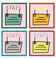 set of statistics icon infographic chart symbol vector image
