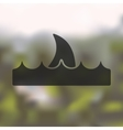 shark icon on blurred background vector image vector image