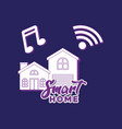 smart home design vector image vector image