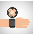 smartwatch device health plaster symbol vector image vector image