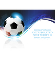 Soccer ball on blue wavy background vector image vector image