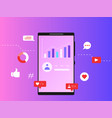 social media marketing grow up increase followers vector image vector image