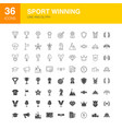 sport winning line web glyph icons vector image