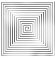 square spiral helix and scroll isolated on white vector image vector image