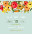 summer and spring floral card in watercolor style vector image vector image