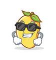 super cool mango character cartoon mascot vector image
