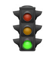 traffic lights with green bright go concept vector image