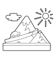 Travel by car in mountains concept outline style vector image vector image