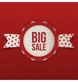 valentines day big sale emblem with text vector image