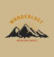 wanderlust hand draw wild mountain landscape vector image vector image