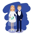 Wedding couple collection Smiling bride and groom vector image vector image