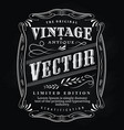 western hand drawn frame label blackboard antique vector image vector image