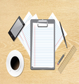 work accessories on table vector image vector image