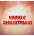 Christmas shining present card vector image