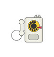 payphone flat icon vector image