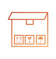 delivery cardboard box pack cargo icon vector image