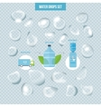 Water drops pure set with transparency blending vector image