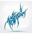 Abstract blue tattoo vector image vector image