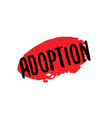 adoption rubber stamp vector image vector image