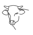 animal cow icon design clip art line icon vector image vector image