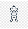 baby concept linear icon isolated on transparent vector image