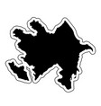 black silhouette of the country azerbaijan with vector image