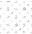 body icons pattern seamless white background vector image vector image
