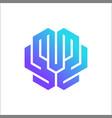 brain tech logo design template vector image vector image