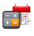 Calendar with calculator vector image