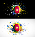 cameroon flag with soccer ball dash on colorful vector image vector image