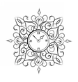 Classic style circular clock vector image