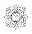 Classic style circular clock vector image vector image