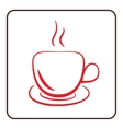Coffee cup icon red vector image vector image