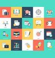 collection of seo and marketing flat icons vector image