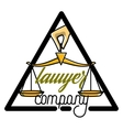 Color vintage lawyer emblem vector image vector image