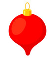 colorful cartoon christmas tree decoration vector image