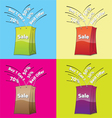 colorful shopping bags for sale concept vector image