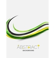 Colorful stripes wave composition business vector image vector image