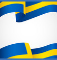 decoration sweden insignia on white vector image