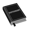 Dictionary icon in black style isolated on white vector image vector image
